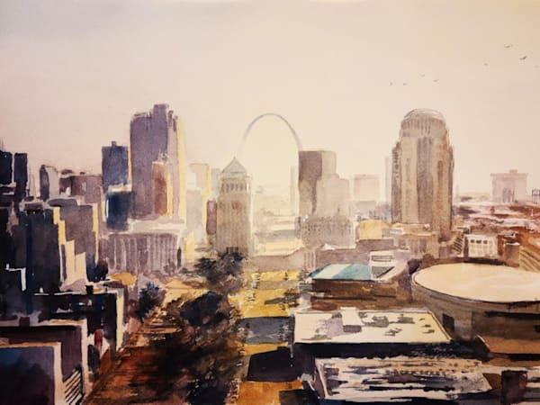 Stl Skyline 2   Gateway To The West   Original Art | Steven Dragan Fine Art