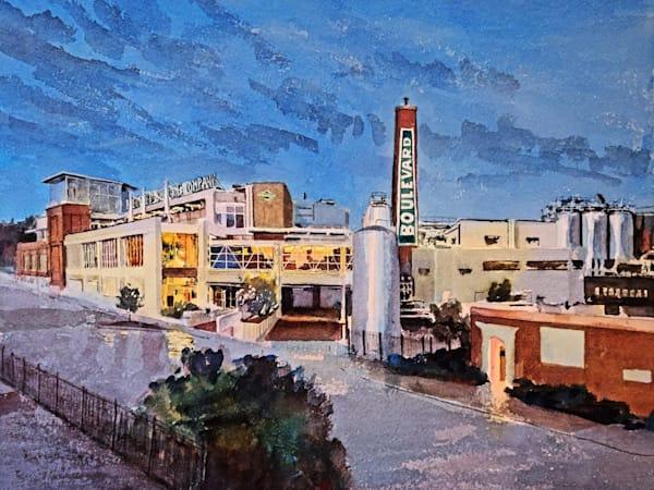 Kc Boulevard Brewery   Original Art | Steven Dragan Fine Art