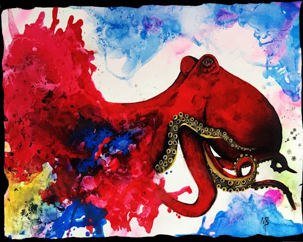 Red Octopus Art | Michael Bruley Studio