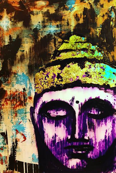 Buddha In Purple Art | Michael Bruley Studio