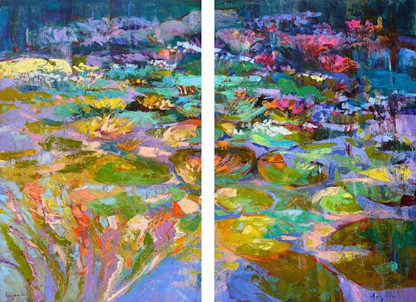 Four Wishes Diptych Art | Dorothy Fagan Joy's Garden