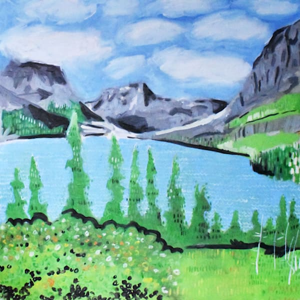 Saint Mary Lake Painting 3