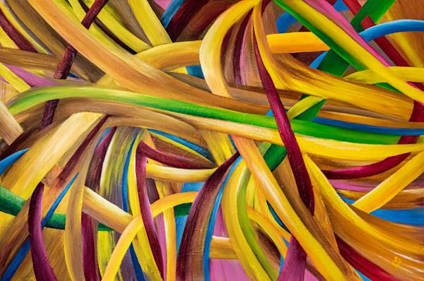 "Endless Motion No. 4, PRINT (original Oil on Canvas 40""x60"" )"