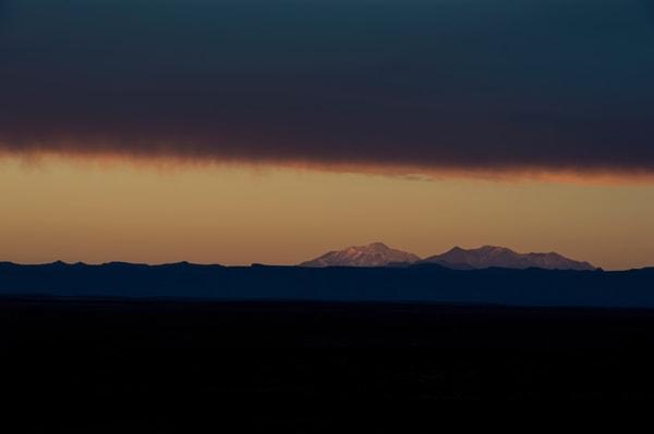 Incredible mountain sunset photo.