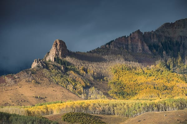 A lovely fall scene in the Rockies photo.