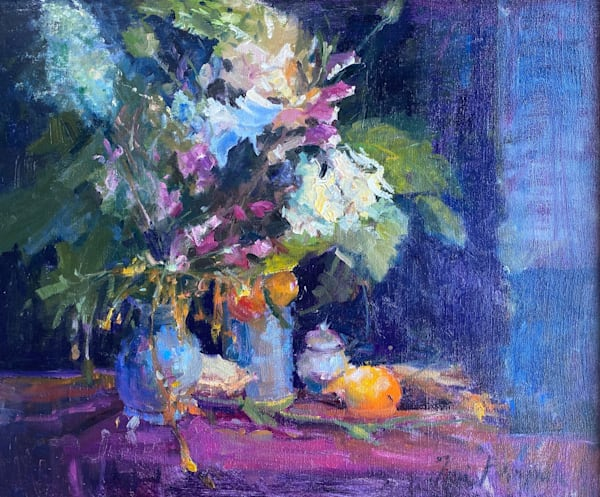 Florals And Oranges Art | Toni Danchik Fine Art