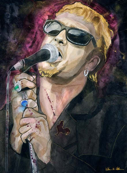 Layne Staley Lf Art | William K. Stidham - heART Art