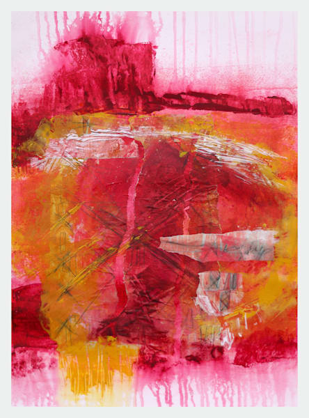 Red Butte - Original Abstract Painting | Cynthia Coldren Fine Art