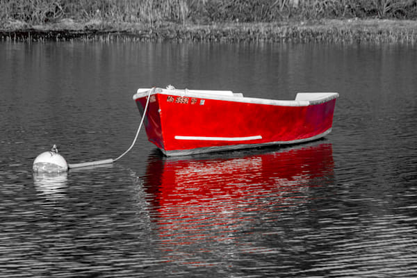 Dinghy Red Photography Art | The Colors of Chatham