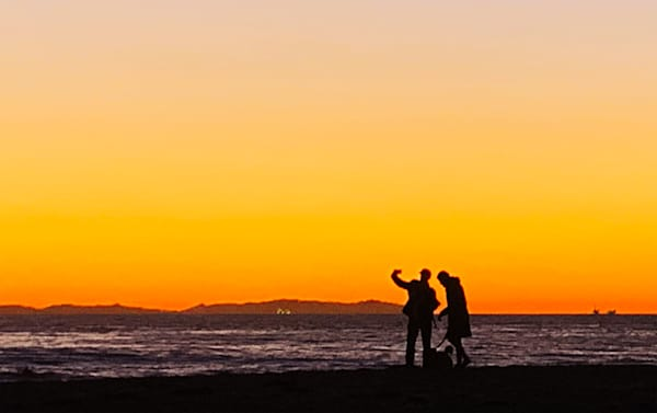 Selfie During Sunset Art   Michael Bruley Studio
