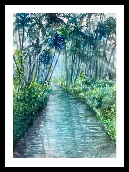 """Kerala: God's Own Country"" in watercolors by Aprajita Lal"