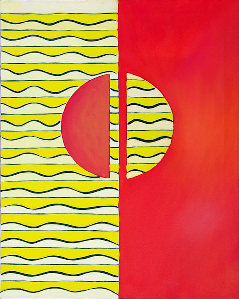 The Number Two:  Halves, Color Geometry Series Art | Art Impact® International Inc