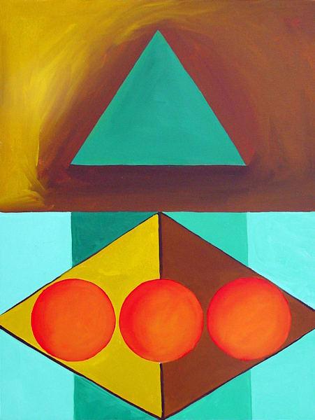 The Number Three: Triangle, Color Geometry Series Art | Art Impact® International Inc