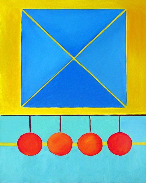 The Number Four: Square, Color Geometry Series Art | Art Impact® International Inc