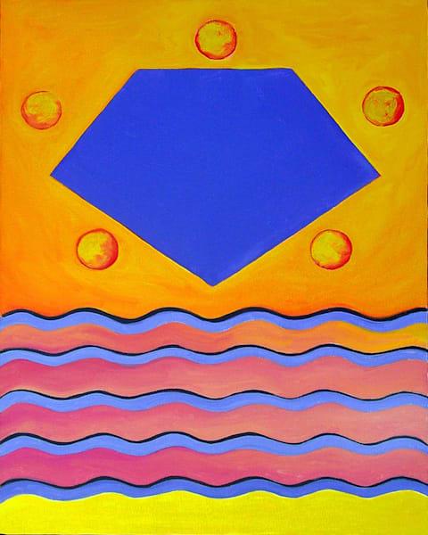The Number Five: Pentagon, Color Geometry Series Art | Art Impact® International Inc