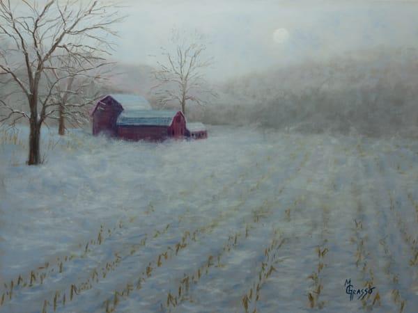 Late Snowy Blow   Original Art   Mark Grasso Fine Art