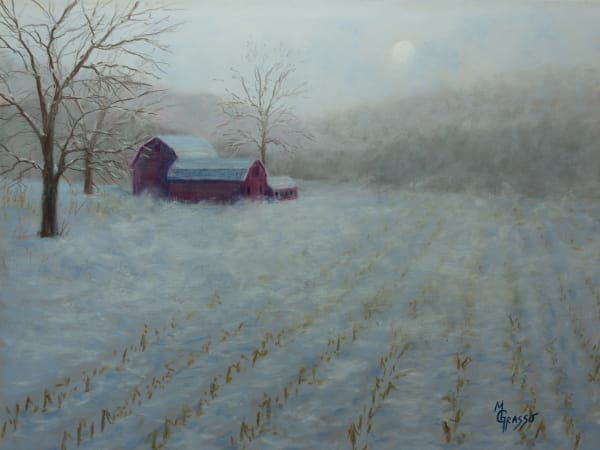 Late Snowy Blow Art | Mark Grasso Fine Art
