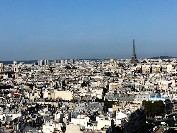 Paris From Above Art   Michael Bruley Studio