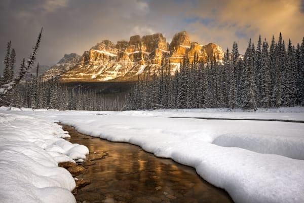 Castle Mountain Sunrise Photography Art | Garsha18 Fine Art Photography
