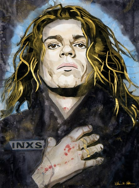 Michael Hutchence Lf Art | William K. Stidham - heART Art
