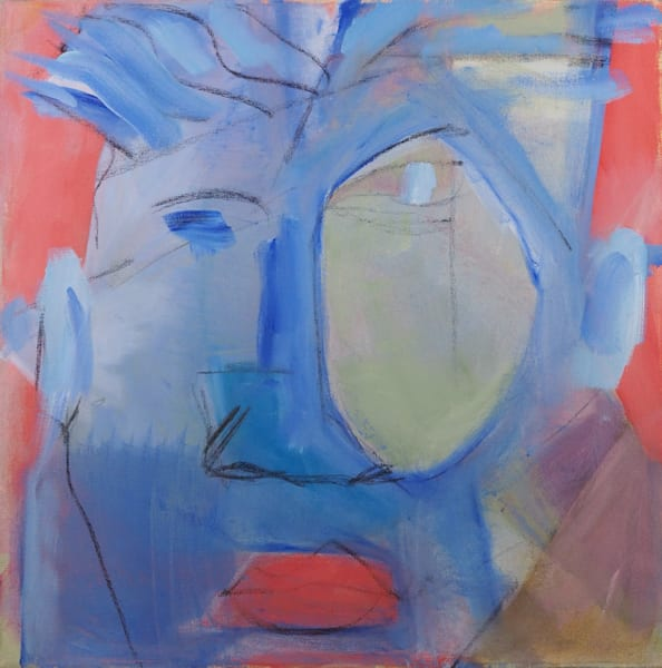 Blue Face (Green Eye) Art   stephengerstman