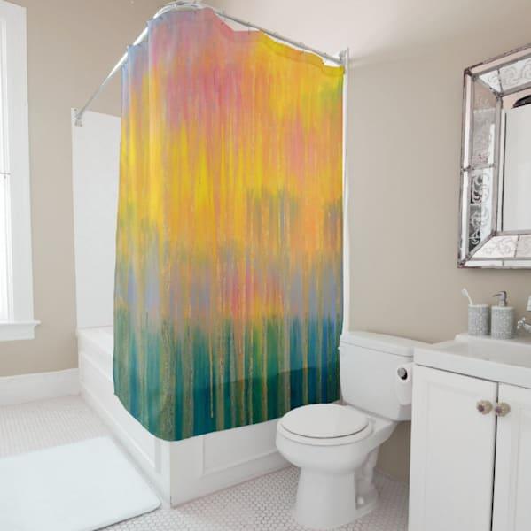 Shower Curtain   Herring Cove Rain At Sunset | Rachel Brask Studio, LLC