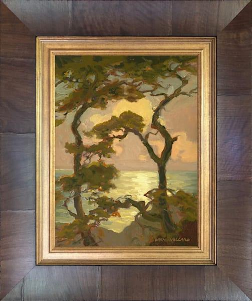 Torrey Pines Silhouette Framed Olive Wood