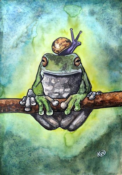 Frog And Snail Original Art   Water+Ink Studios