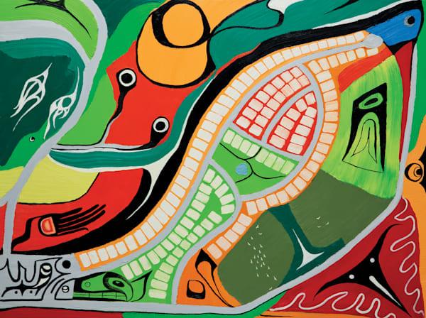 "Walking East C, PRINT (original Oil on Canvas 36""x48"" )"