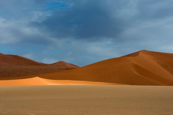 Wonderful Namibian desert landscape photo.