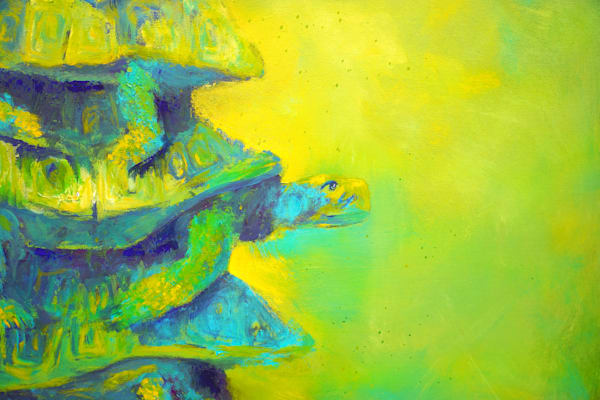 Turtles Green Detail 2 Art | S Pominville