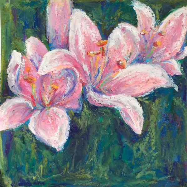 Pink Lily Trio Art | ebaumeistermcintyre