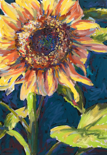 Sunset Sunflower Art | ebaumeistermcintyre