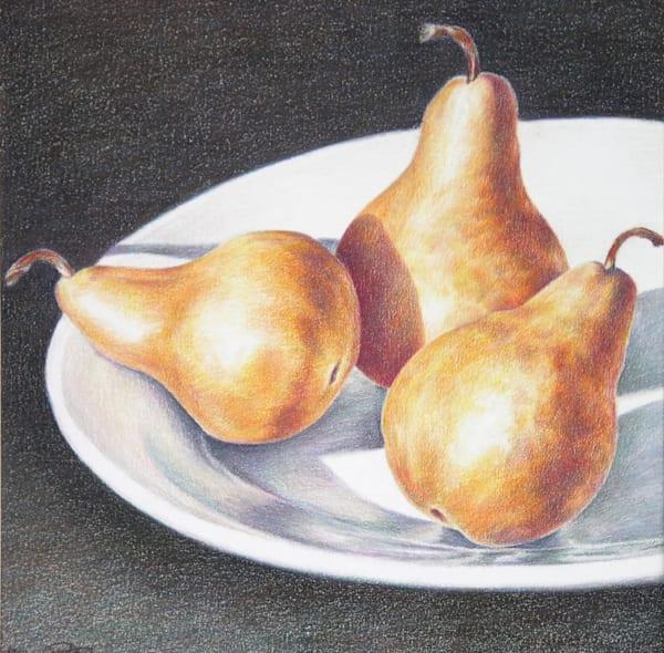 Three Pears  Art   ebaumeistermcintyre
