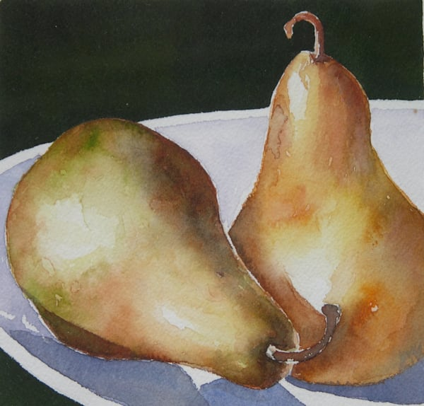 Pear Pair Art   ebaumeistermcintyre