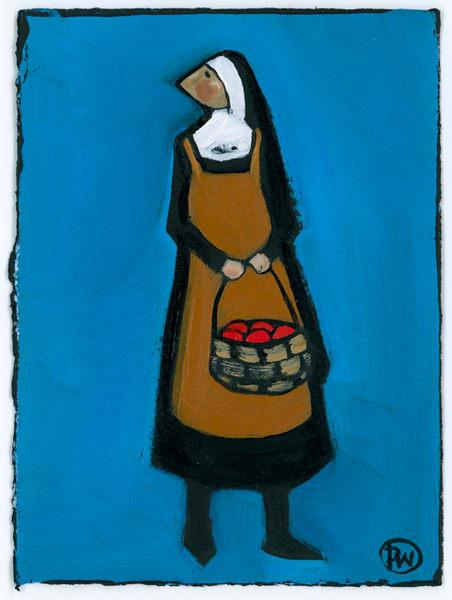 Market Basket Oil On Paper Wallace Art   Studio 100 Productions - Paula Wallace Fine Art and Illustration