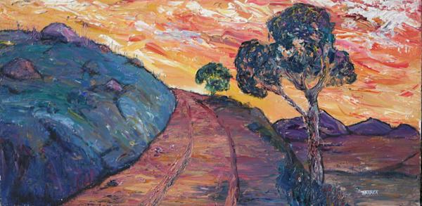 Sugarloaf Mountain Sunset  Original Oil Art | janakastagnaro