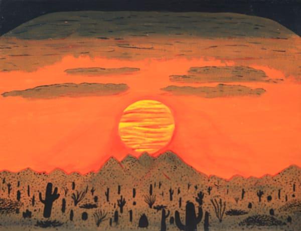 Four Peaks Sunset Photography Art | ArtbyAEllis