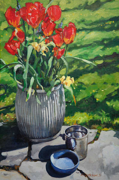 Tulips Galvanized Art | Fountainhead Gallery