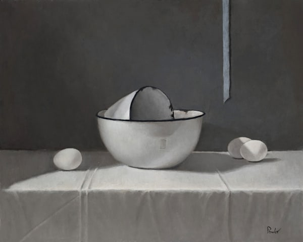 Enamel Bowls With Blue Ribbon Art | Fountainhead Gallery