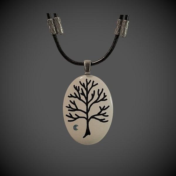 Trees and Symbols Pendants