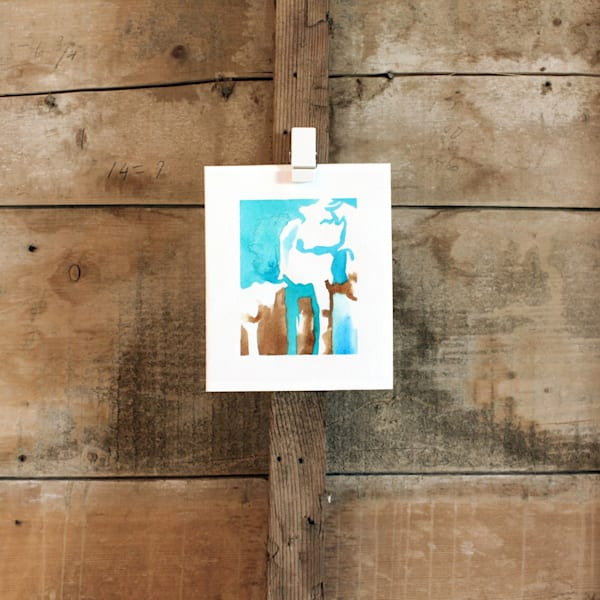 Cow Calf - Card - Small Abstracts Collection