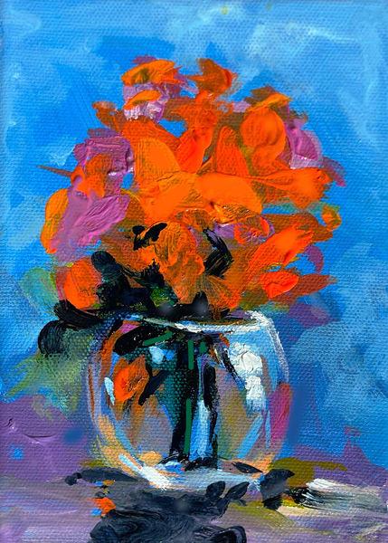 Red Flowers  Art | Charles Wallis