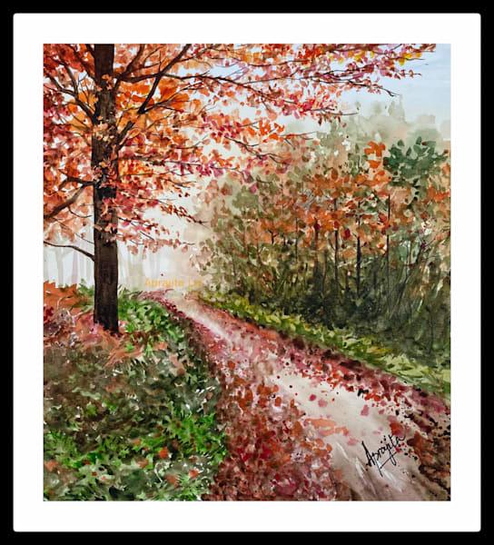 """The Passage"" in watercolors by Aprajita Lal"