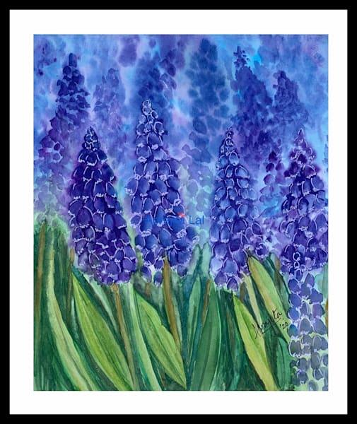 """""""Purple Blooms"""" in watercolors by Aprajita Lal"""