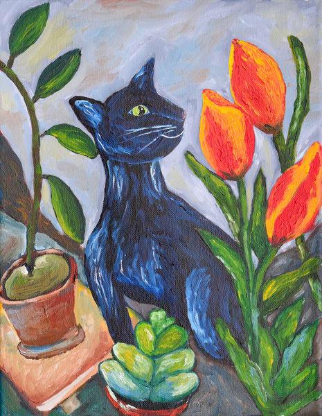 Tamzin And Tulips Art | Drivdahl Creations