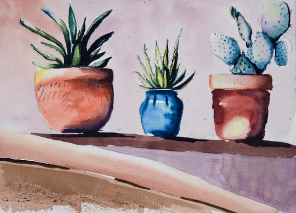 Moab Cactuses Art   Drivdahl Creations