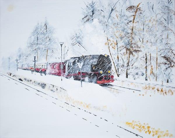 Whiteout Train Art | Drivdahl Creations