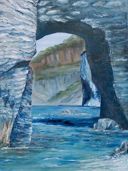 Mediterranean Cliffs Art   Drivdahl Creations