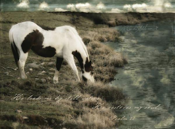 HORSE AT WATER Mixed Media